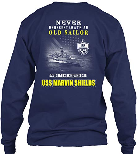 (USS Marvin Shields ff-1066 Never underes - Long Sleeve - Get It Now! Navy)