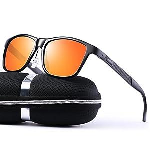 Clubmaster Sunglasses for Men Women - wearPro Retro Semi-Rimless Polarized Sun Glasses WP2006