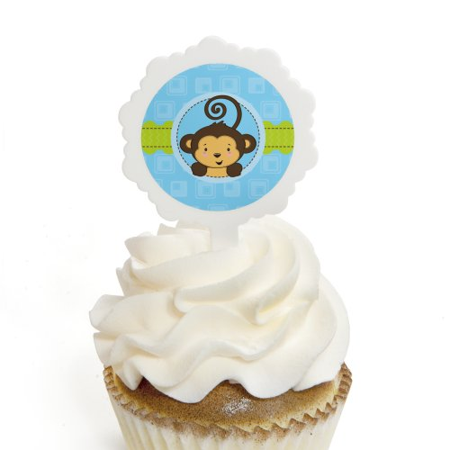 Monkey Boy - Cupcake Picks with Stickers -