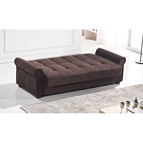 Houston Tufted Storage Futon Sofa Bed With Textured Linen  : 41ouLHSvIVL from www.bestsofasonline.com size 500 x 500 jpeg 28kB