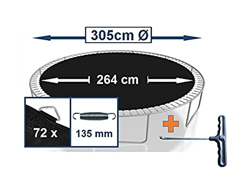 Awshop24 Tapis De Saut Pour Trampoline Saut 244 Cm 305 366 Cm 396 Cm