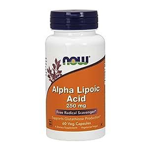 NOW Alpha Lipoic Acid 250 mg,60 Veg Capsules