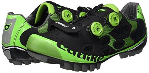 Catlike Whisper Mtb 2016, Zapatillas de Ciclismo de Montaña Unisex Adulto Negro (Black / Green)