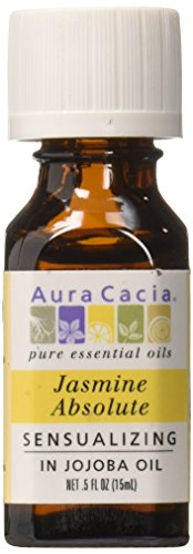 Precious Essentials Oil Jasmine Absolute w/Jojoba Aura Cacia 0.5 oz (Jasmine Absolute)