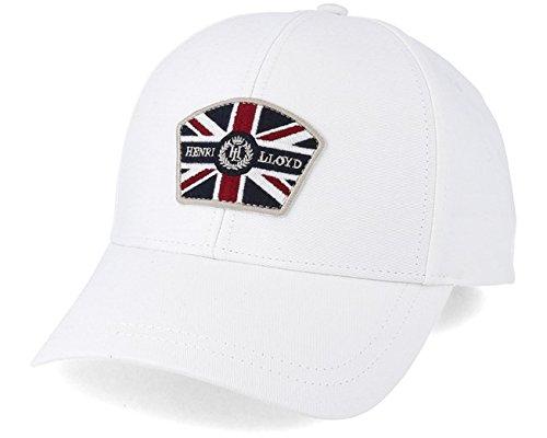 fdeb24b4facb8 Henri Lloyd Mens Odelston Bright White Branded Baseball Cap - O S   Amazon.co.uk  Clothing