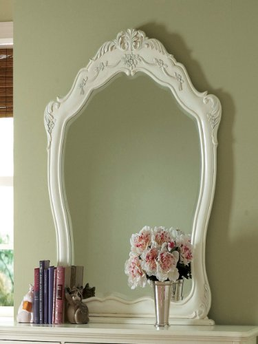 Cinderella Mirror by Home Elegance in Off-White by Home Elegance