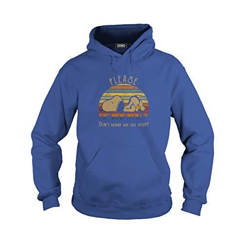 Unisex Don't Make Me Do Stuff Vintage Adult Hooded Sweatshirt (S, Royal Blue)]()