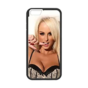 iPhone 6 4.7 Inch Cell Phone Case Black hf11 sexy blonde model girl Pqhyd