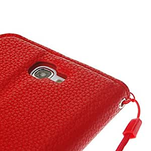 xiao Lichee Print Design Artificial Leather and TPU Flip Wallet Stand Pouches for Samsung Galaxy Note2 N7100 , Rose