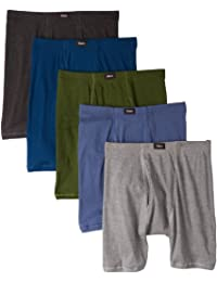 Hanes Men's 5 Pack Ultimate Comfort Soft Waistband Boxer...