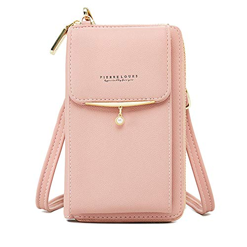 Womens Purse Leather Cellphone Holster Wallet Case Small Crossbody Shoulder Phone Bag Pouch Handbag Clutch for iPhone 11 Pro 8 7/6 Plus Xs Max X Xr Samsung S10+