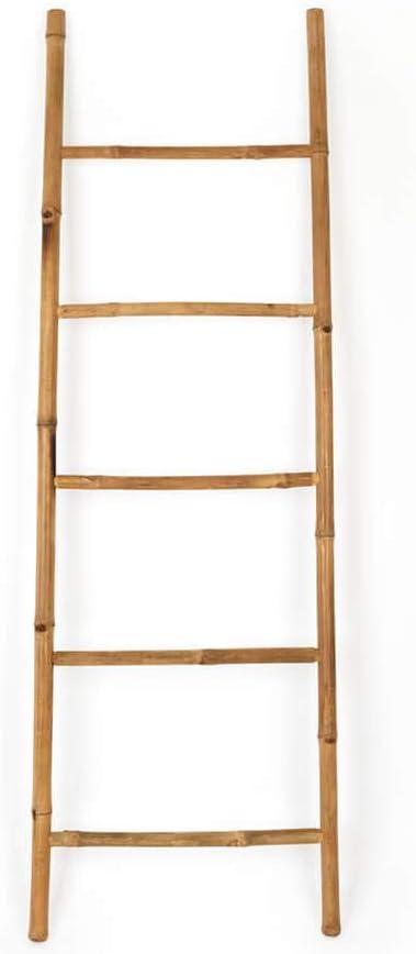 Black Velvet Studio Escalera I Love Bambu, toallero Estante para baño, 5 peldaños, Estilo étnico, Perchero Elegante, Natural, Ligero, Soporte Perchero, bambú, Color Natural, 150x50x4 cm.: Amazon.es: Hogar