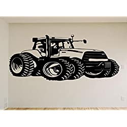 Case John Deere Farm Tractor Car Auto Wall Decal Stickers Murals Boys Room Man Cave
