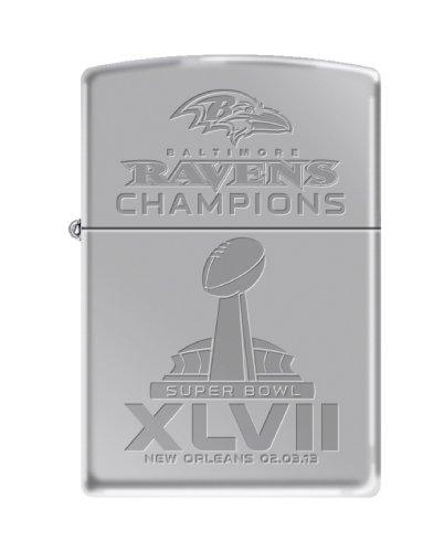 NFL Baltimore Ravens Super Bowl XLVII Champions Chrome Zippo Lighter by Zippo