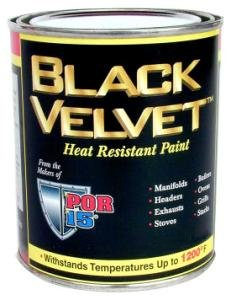 POR 15 BVH Black Velvet HIGH-HEAT Half Pint