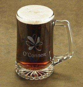 Personalized Shamrock Beer Mug (25 oz.)