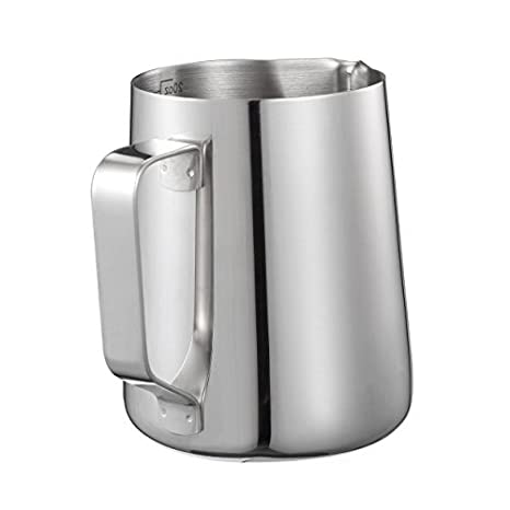 Kendan - Jarra medidora de espuma de leche, de acero inoxidable, 600ml