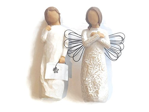 Willow Tree Remembrance Angel Figurine Bundle With Willow Tree Remember Statue, An Ideal Sympathy-Condolence-Funeral Gifts For Loss Of Mother/Father/Loved One