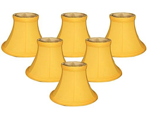 Royal Designs 6' Yellow Bell Chandelier Shade, Set of 6, 3 x 6 x 4.5 (CS-204YEL-6)