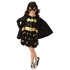 Girls DC Comics Deluxe Batgirl Costume with Cape and Tutu Skirt