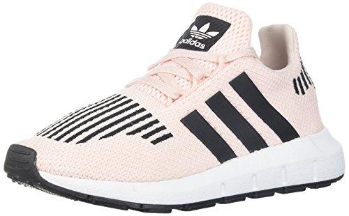 adidas Originals Girls' Swift Run C Sneaker, Ice Pink/Black/White, 13 M US Little Kid by adidas Originals