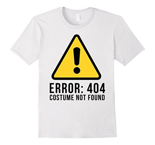 [Halloween T-shirt - Error 404 Costume Not Found - Male Medium - White] (Costume Not Found 404)