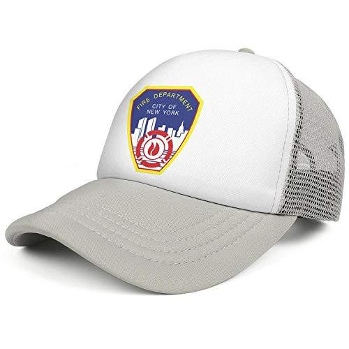 DXQIANG Fire Department City of New York Unisex Classic Mesh Back Cap Comfortable Soft Adjustable Dad Caps