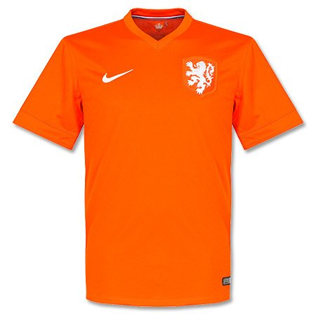 NIKE Netherlands 2014 Stadium Men's Soccer Shirt, Orange, XL (Replica Mens Football)