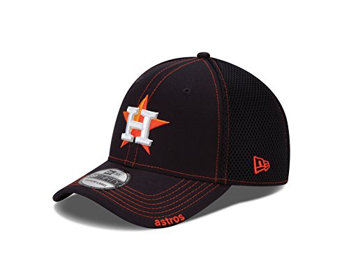MLB Houston Astros NEO 39Thirty Stretch Fit Cap, Black, Medium/Large