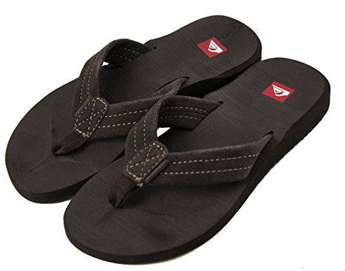 Brown Carver Quiksilver Mens 2 Suede Brown RT Sandal Thongs q0SSa7nxd