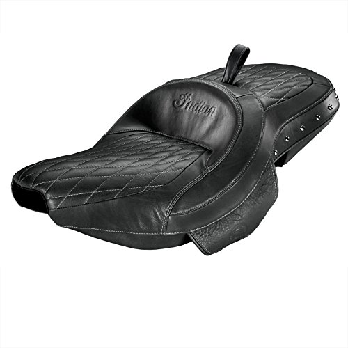 CHIEF CHIEFTAIN ROADMASTER BLACK STUDDED LEATHER EXTENDED REACH HEATED SEAT