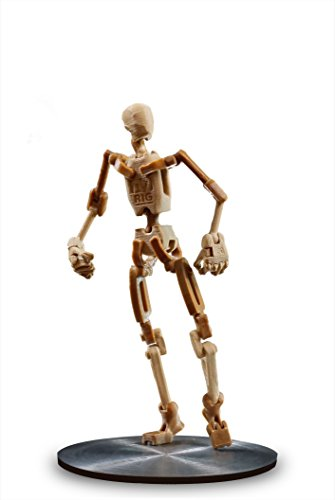 A9 Small Biped Mannequin (Wood Composite) (Gravity Rig)