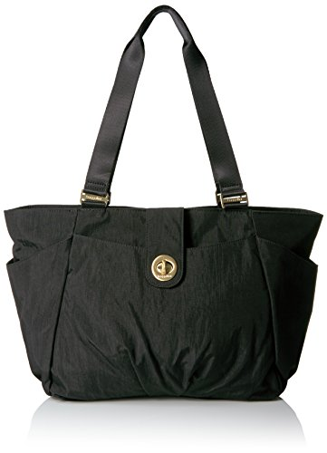 Baggallini Gold International Norway Laptop Tote Black Shoulder Bag, Black, One Size (1 Shelburne 1 Light)