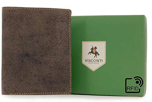 Leather Oil Brown Hunter Shield Rfid Visconti Visconti Wallet Wallet 707 fHPRqca