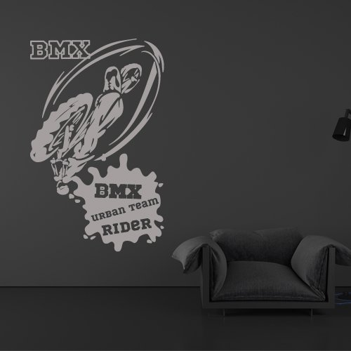 Wall Decal BMX Rider Urban Bike Bicycle Freestyle Racing Cycle Jump Teen (Freestyle Bmx Riders)