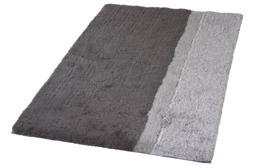 Kleine Wolke Eco Living Life Non Slip Cotton Bathroom Rug (27.6'' x 47.2'', Anthracite grey) by Kleine Wolke
