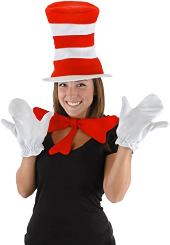 [Dr. Seuss Cat in the Hat Adult Accessory Kit by elope] (Halloween Accessories)