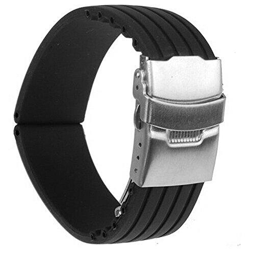 17 opinioni per Foxnovo Strisce impermeabili modello Silicone Watch Band Cinturino con fibbia di