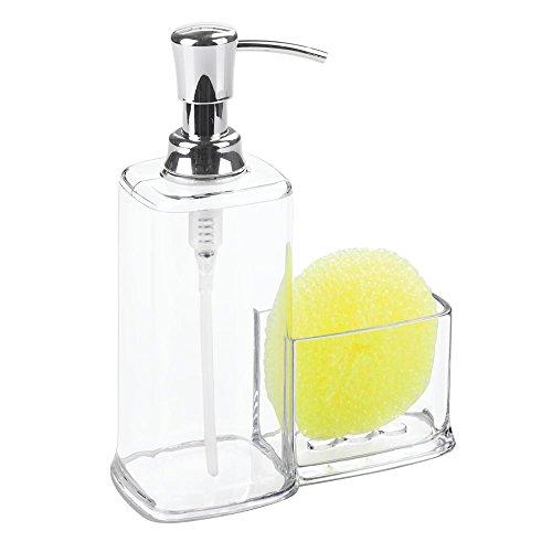 Interdesign Vella Foaming Soap Dispenser With Sponge And Scrubby Caddy Kitchen Sink Organizer