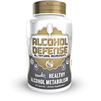 Alcohol Defense Capsules | 120 Count | Promotes Healthy Alcohol Metabolism | Contains Dihydromyricetin, Ginger Extract