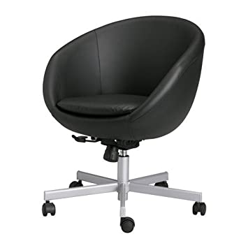 Poltrona Ikea Skruvsta.Ikea Skruvsta Swivel Chair Idhult Black Amazon Co Uk
