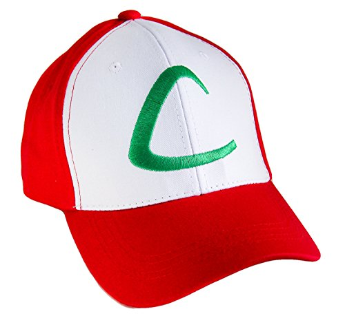 [Ash Ketchum Hat Original Pokemon Anime Pokemaster Cap PRIME] (Anime Girl Costumes)