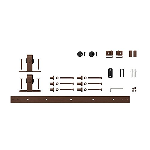 Architectural Products 48'' Mini Barn Door Hardware Kits for Single Cabinet Doors Top Mount Design in Oil Rubbed Bronze FSDH-TOPMTKIT-OB-4 trimmable down to 43'' by Architectrual Products By Outwater (Image #2)