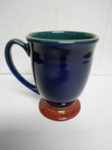 Denby Harlequin Footed Mug Blue / Green/ -