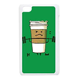 iPod Touch 4 Case White Strong Coffee NIX Personalized Plastic Case