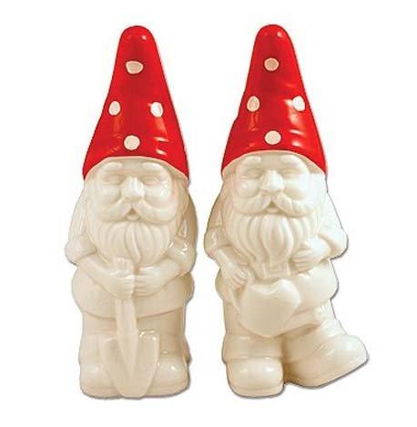 garden gnome gifts salt and pepper shaker set ceramic