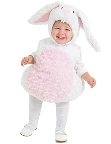 Baby And Toddler Rabbit Costumes (Underwraps Baby's Rabbit Belly-Babies, White/Pink, Medium)