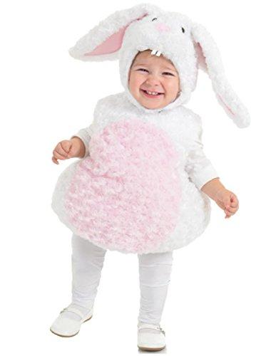 Toddler M&m Halloween Costumes (Underwraps Baby's Rabbit Belly-Babies, White/Pink, Medium)