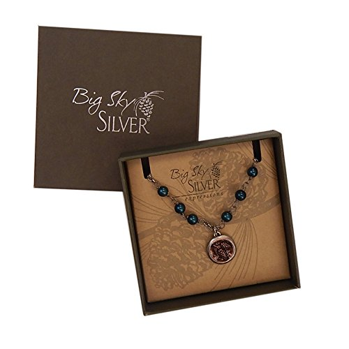 Big Sky Silver Expressions Vintage Pinecone Necklace in Gift Box