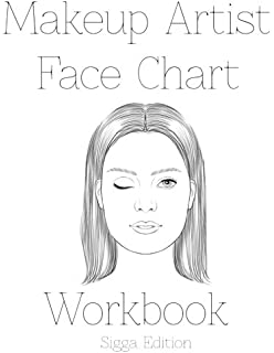 Makeup Artist Face Chart Template Female Faces Large Notebook